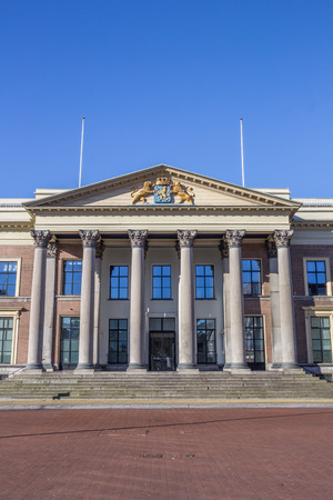 leeuwarden: Front of the courthouse in Leeuwarden, Holland