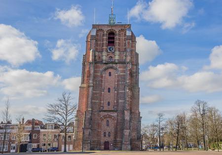 leeuwarden: Leaning tower Oldehove in Leeuwarden, Netherlands