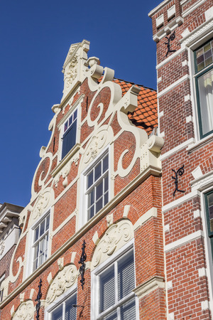 architecture monumental: Old house in the historical center of Leeuwarden, Netherlands Editorial