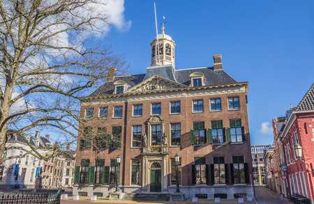 leeuwarden: City hall in the historical center of Leeuwarden, Netherlands