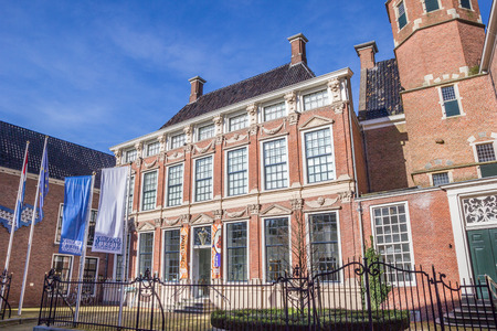 Palace Prinsessehof in the historical center of Leeuwarden, Netherlands