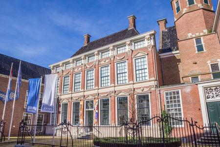 leeuwarden: Palace Prinsessehof in the historical center of Leeuwarden, Netherlands