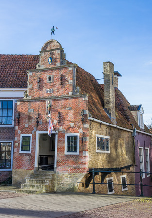 smallest: Smallest house of historic city Franeker, Netherlands