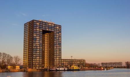 tasman: Apartment building Tasman tower in Groningen, Netherlands