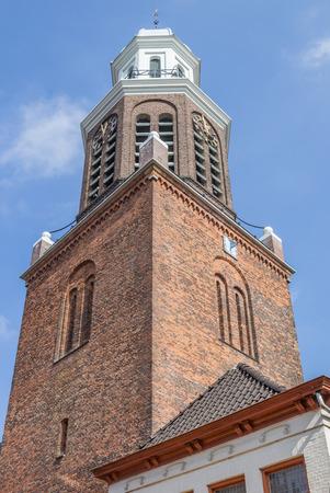 church tower: Church tower in the center of Winschoten, Holland Stock Photo