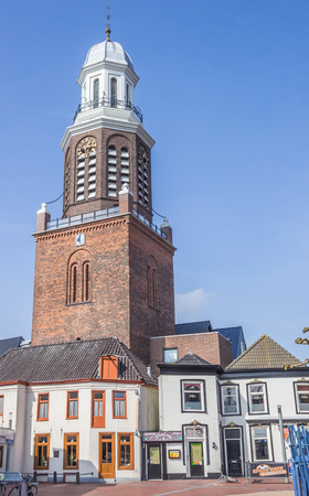 church tower: Church tower at the market square in Winschoten, Holland