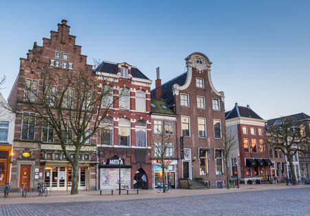 groningen: Old buildings at the Vismarkt in Groningen, Netherlands