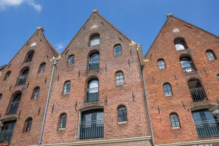 groningen: Old warehouses at the Hoge Der A in Groningen, Netherlands Stock Photo