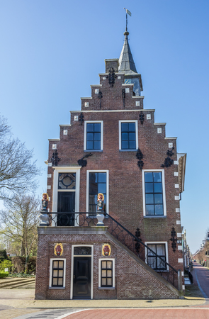 balk: Front of the historical town hall in Balk, Netherlands Stock Photo