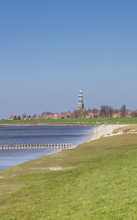 dikes: Sea and dikes around Hindeloopen, The Netherlands