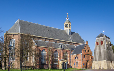 Martini church in the historical city Sneek, Netherlands