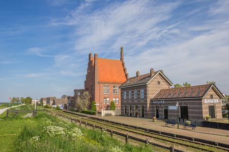 Historische spoorlijn en het station van Medemblik, Nederland Stockfoto