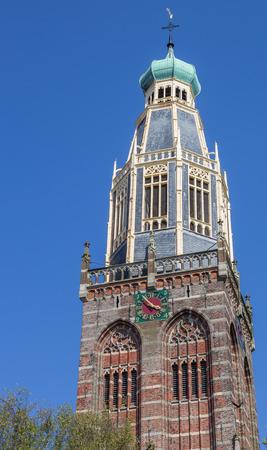 noord: Tower of the Zuiderkerk in historical village Enkhuizen, Holland