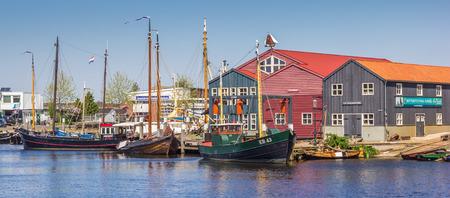 fishingboat: Panorama of fishing boats in Elburg, Netherlands Editorial