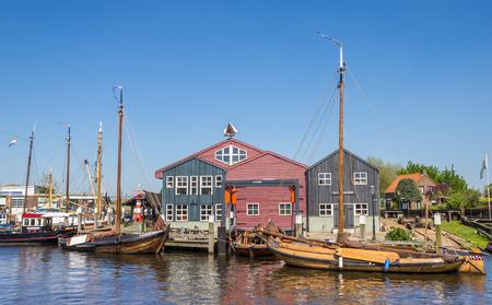 fishingboat: Fishing boats in the harbor of Elburg, Holland Editorial