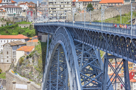 luis: Ponte Luis I, designed by Gustave Eiffel in Porto, Portugal Editorial