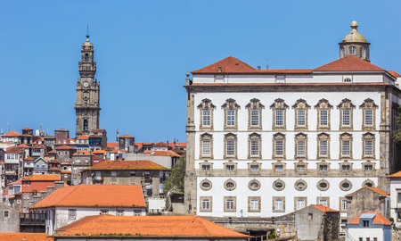 episcopal: Paco Episcopal building in the historical center of Porto, Portugal Editorial