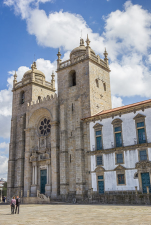 se: Se cathedral in the historical center of Porto, Portugal Editorial