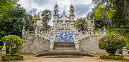 Panorama of Sanctuary of Our Lady of Remedios in Lamego, Portugal