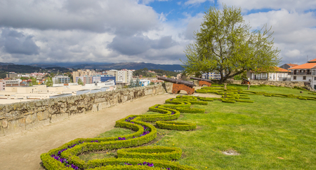 fortify: Cannons in the garden of the medieval Chaves castle Editorial