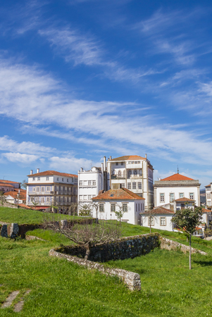 fortified wall: Fortified wall and houses in Valenca do Minho, Portugal Editorial