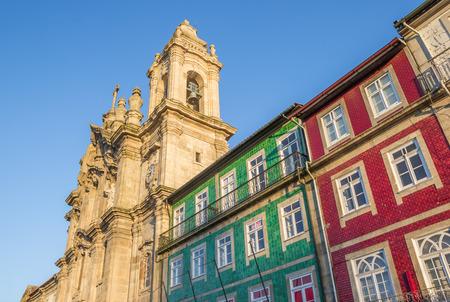 convento: Convento dos Congregados and colorful houses in Braga, Portugal