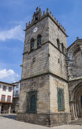 guimaraes: Nossa Senhora da Oliveira church in Guimaraes, Portugal Stock Photo
