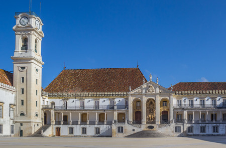 Main entrance of the university of Coimbra, Portugal