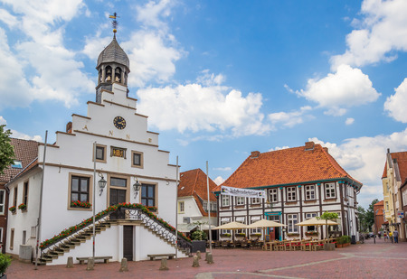 Town hall on the market square of Lingen, Germany