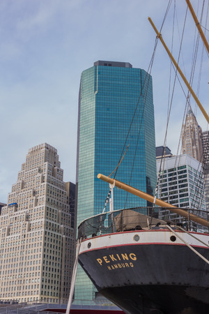 old ship: Old ship at the South Street Seaport in New York City, USA