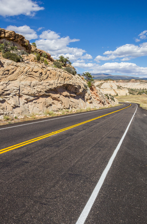 byway: Scenic byway 12 near Boulder in Utah, USA
