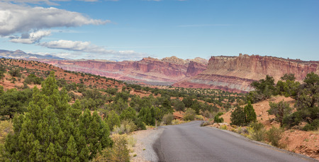 scenic drive: Panorama of the scenic drive in Capitol Reef National Park, Utah, United States