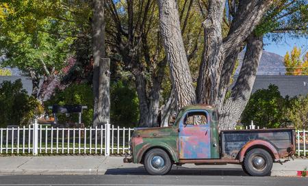 main street: Classic car on main street Bridgeport, California, America Editorial
