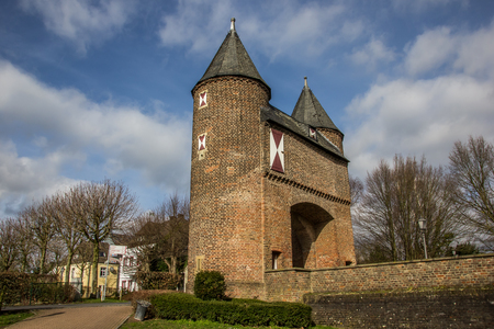 building monumental: Klever city gate in the old roman city of Xanten, Germany Stock Photo