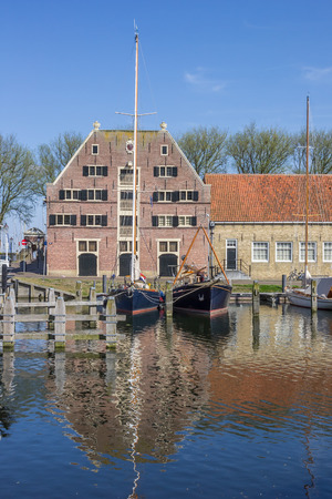 enkhuizen: Old building the Peperhuis in Enkhuizen, Netherlands Editorial