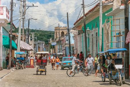 streetlife: Streetlife scene in the historical center of Trinidad, Cuba