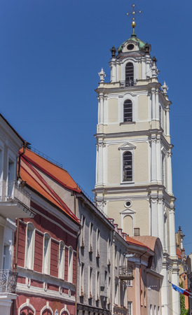 st john: Bell tower of the St. John church in Vilnius, Lithuania