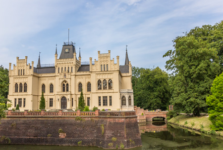 leer: Side view of the Evenburg mansion in Leer, Germany Editorial