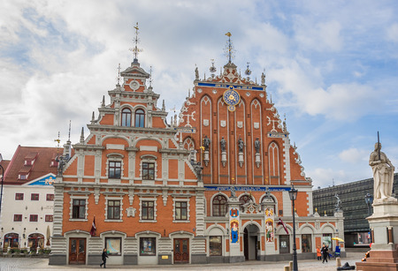 blackhead: House of the Blackheads in the historical center of Riga, Latvia Editorial