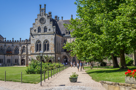 Courtyard of the Bentheim castle in Germany Editorial
