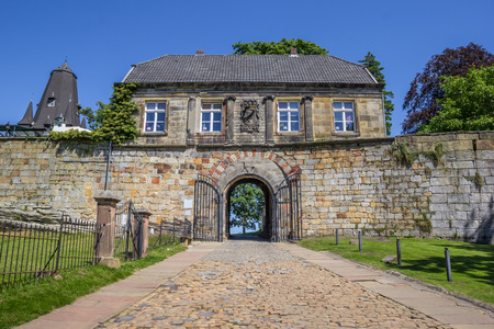 hilltop: Entrance house of the hilltop castle in Bad Bentheim, Germany
