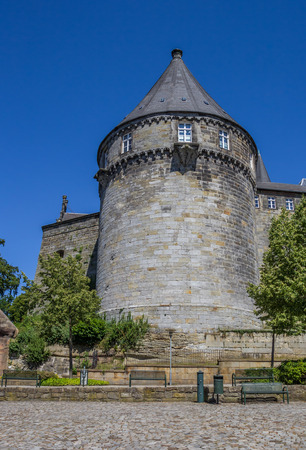 fortified wall: Batterieturm tower in the fortified wall of Bentheim castle, Germany Editorial