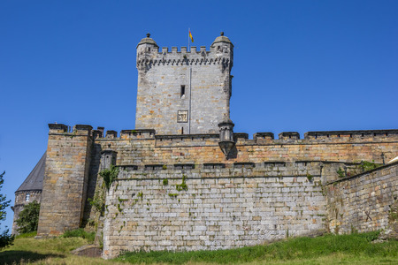 Wall and tower of the Bentheim castle in Germany Editorial