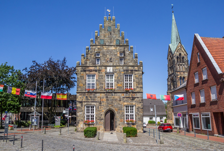 old town hall: Old town hall in the center of Schuttorf, Germany