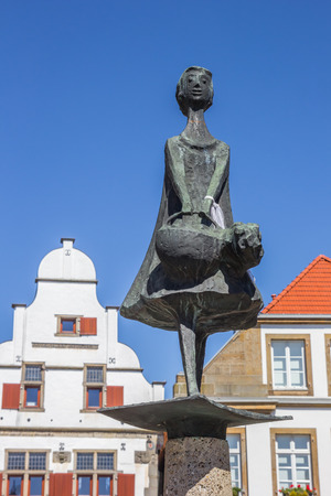 Statue on the central sqaure of Rheine, Germany Stock Photo