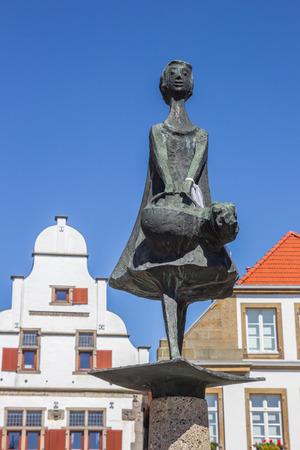 westfalen: Statue on the central sqaure of Rheine, Germany Stock Photo