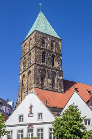 Tower of the Dionysius church in Rheine, Germany Stock Photo