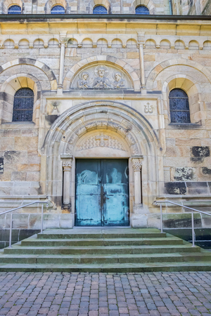 westfalen: Entrance door of the St. Antonius Basilica in Rheine, Germany