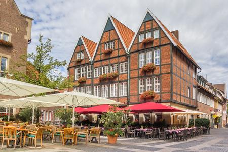 westfalen: Cafe in the historical center of Munster, Germany