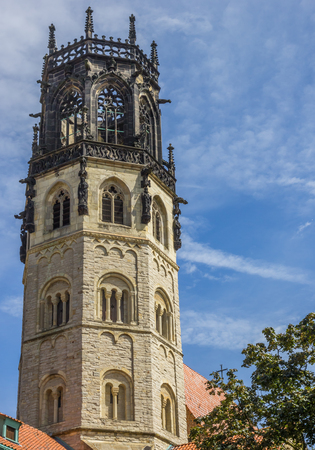 st german: Tower of the st. Ludgeri church in Munster, Germany